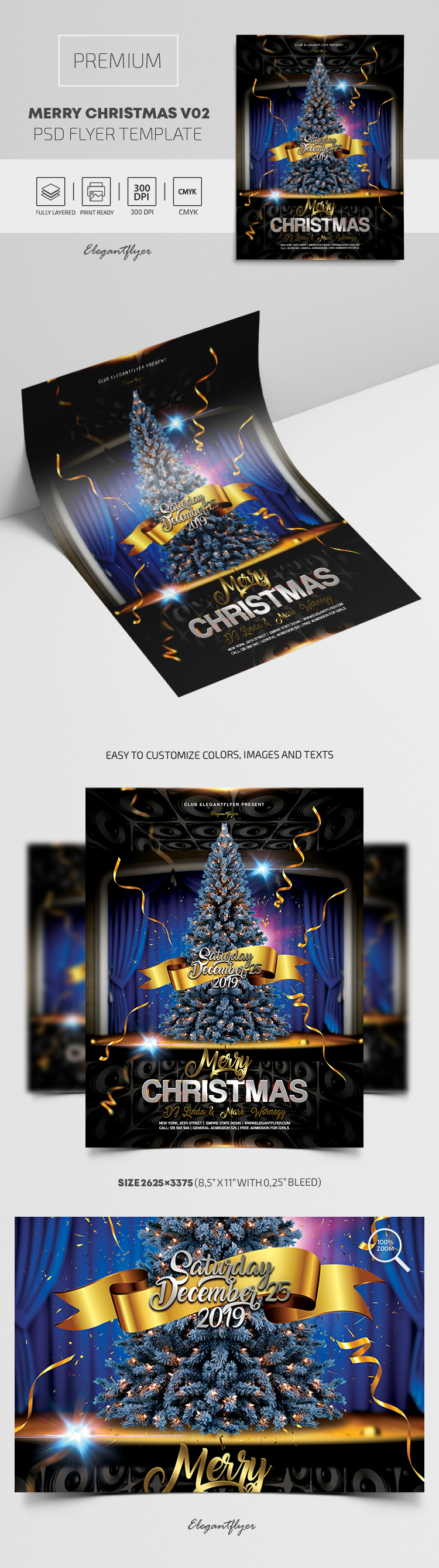 Merry Christmas V02 – Flyer PSD Template