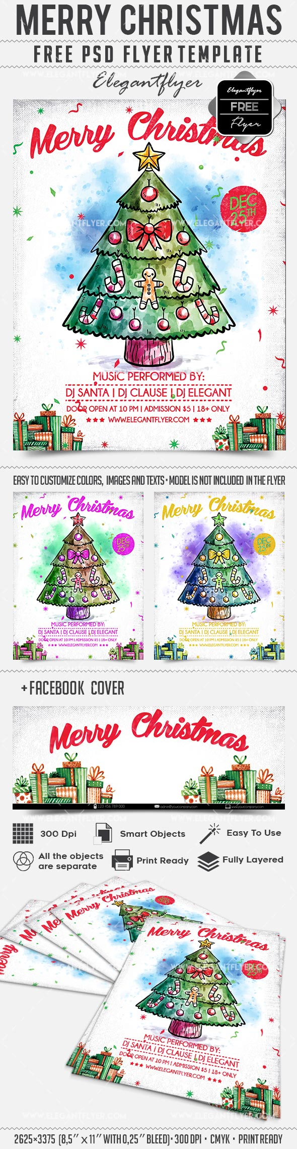 Christmas Tree Flyer Template