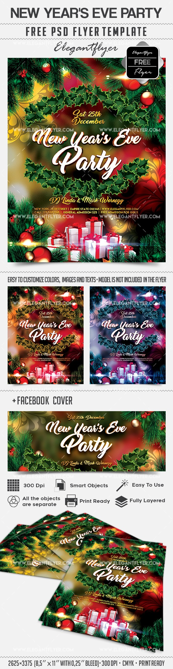 New Year's Eve Party – Free Flyer PSD Template
