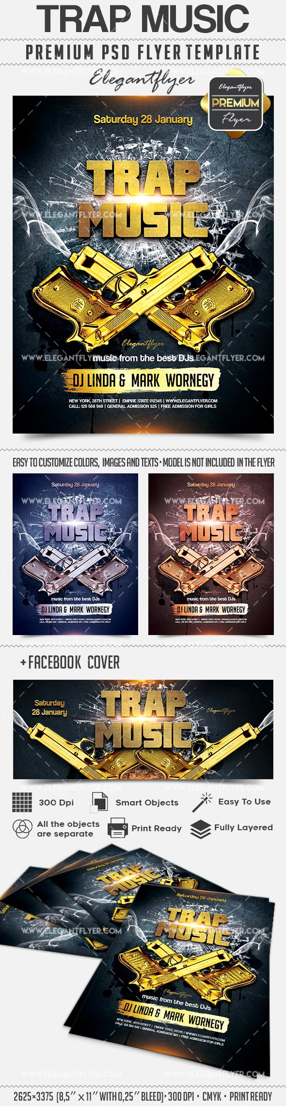 Club Flyer Template For Trap Music