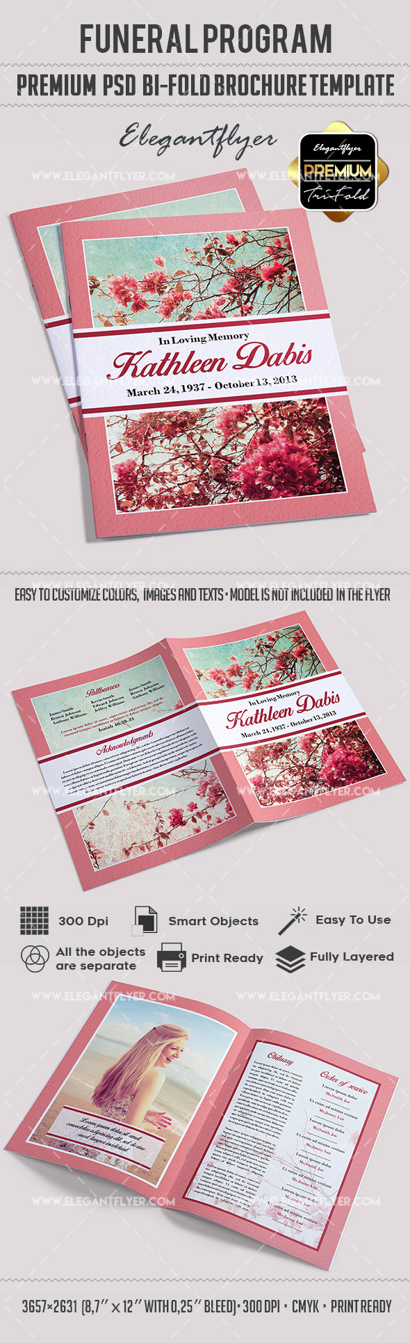 Sample Bi Fold Brochure | Sample Bi Fold Brochure Funeral Program By Elegantflyer