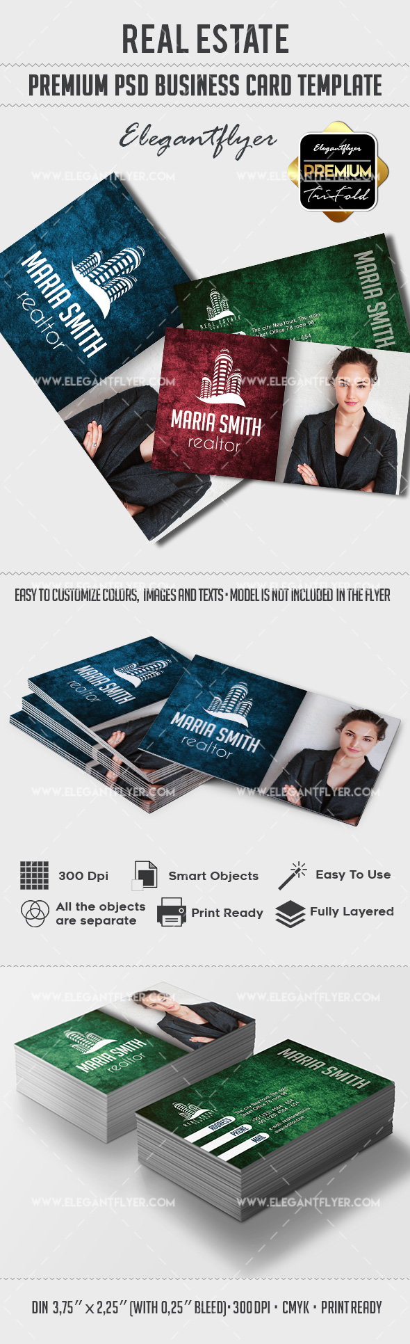 Real Estate – Premium Business card PSD Template