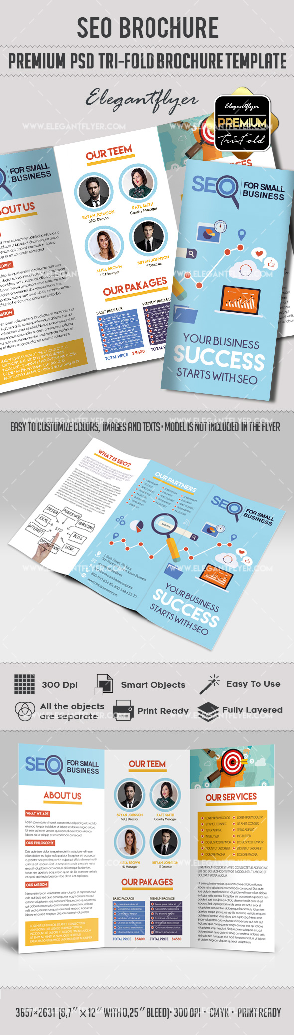 Tri-Fold Brochure Printable for SEO