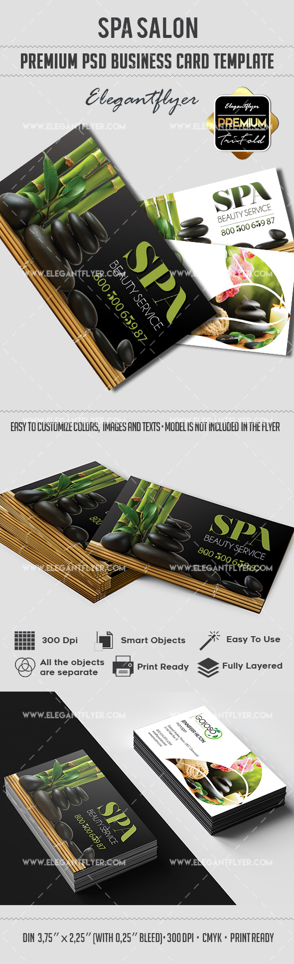 Spa Salon – Premium Business card PSD Template