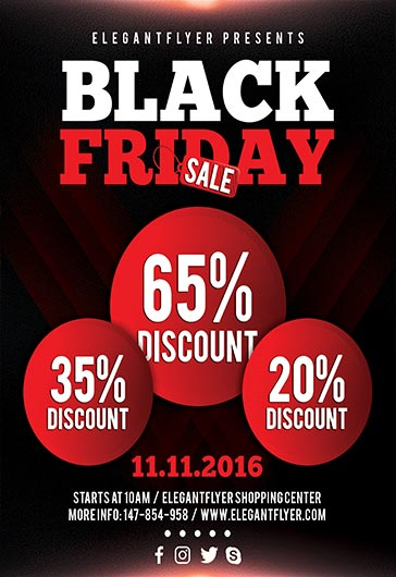 flyer template for target black friday sales  u2013 by elegantflyer