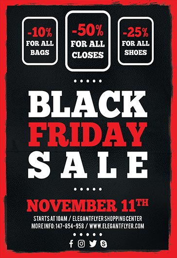 Flyer Template for Target Black Friday Sales