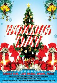 Boxing Day – Flyer PSD Template + Facebook Cover