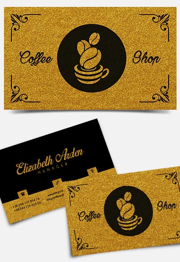 coffee shop  u2013 business card templates psd  u2013 by elegantflyer