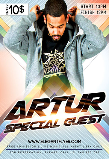 Dj Artur – Flyer PSD Template
