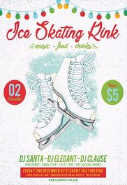 Ice Skating Rink – Flyer PSD Template + Facebook Cover