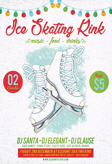 Ice Skating Rink – Flyer PSD Template