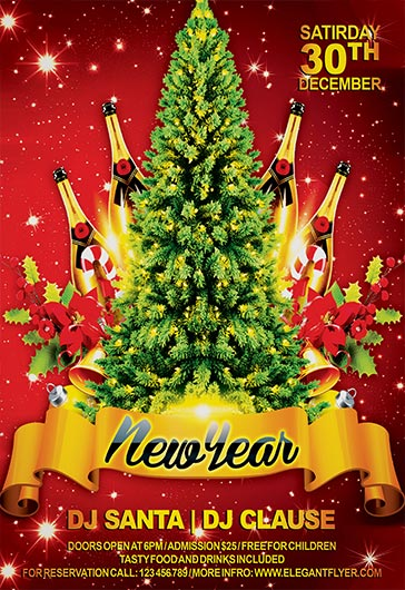 Tree New Year Flyer