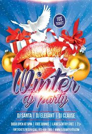 Winter Dj Party – Flyer PSD Template + Facebook Cover
