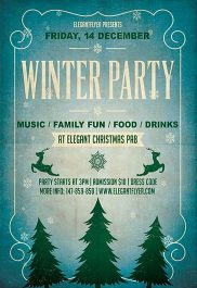 Winter Party – Flyer PSD Template + Facebook Cover