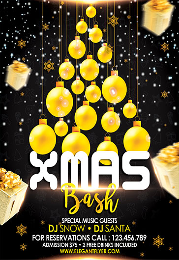 Xmas Bash – Flyer PSD Template