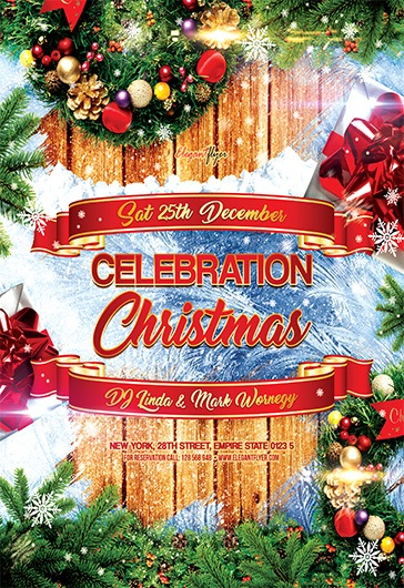 Merry Xmas Flyer Psd Template By Elegantflyer