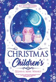 Children's Christmas V02 – Flyer PSD Template + Facebook Cover