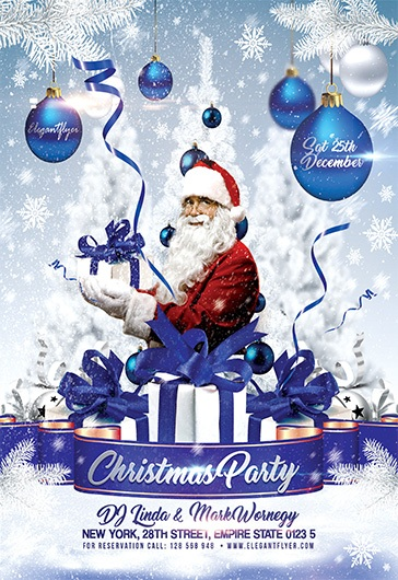 Christmas Party Invitation – Flyer PSD Template