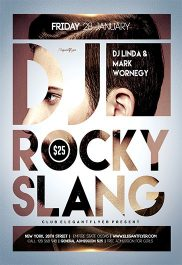 DJ Rocky Slang – Flyer PSD Template + Facebook Cover