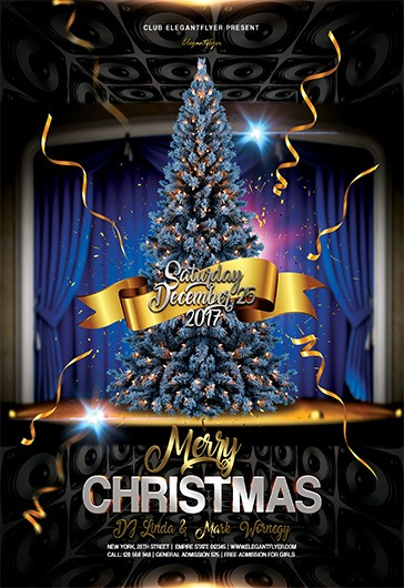 merry christmas v02  u2013 flyer psd template  u2013 by elegantflyer