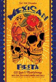 Mexican Fiesta – Flyer PSD Template + Facebook Cover