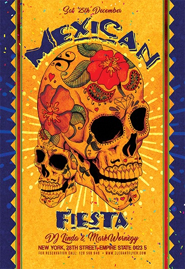 Mexican Fiesta – Flyer PSD Template