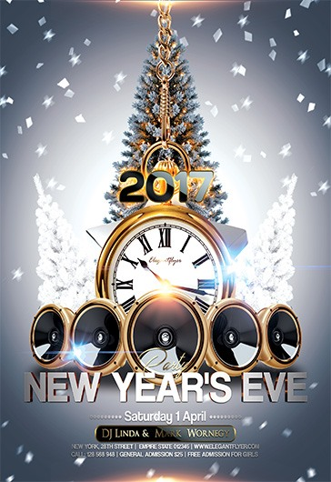 new years eve party flyer psd template by elegantflyer