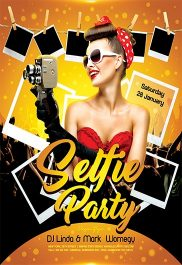Selfie Party – Flyer PSD Template + Facebook Cover