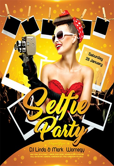 Selfie Party – Flyer PSD Template