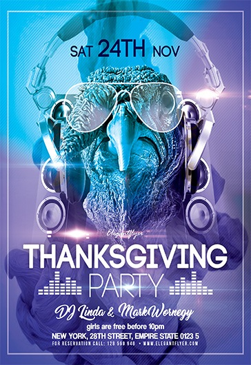 Thanksgiving Party V02 – Flyer PSD Template