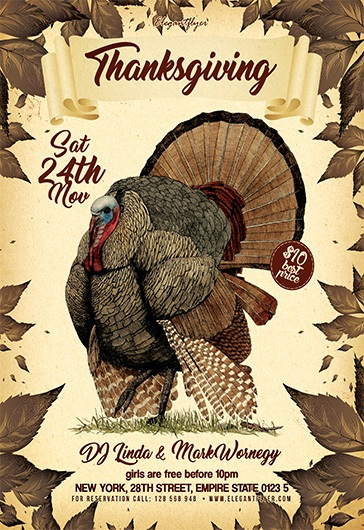 Thanksgiving V02 – Flyer PSD Template