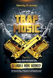 Trap Music – Flyer PSD Template + Facebook Cover