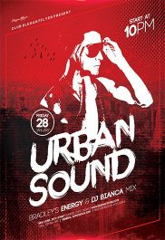 Urban Sound V02 – Flyer PSD Template + Facebook Cover