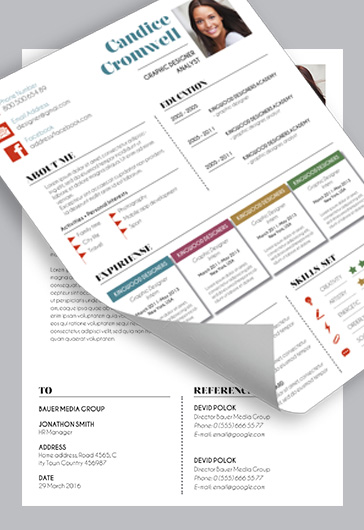 CV – Premium CV and Cover Letter PSD Template