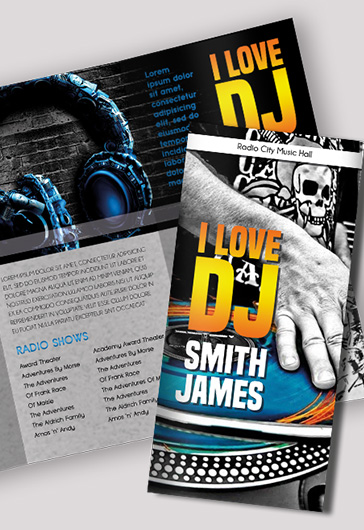 Brochure For Dj Press Kit  By Elegantflyer