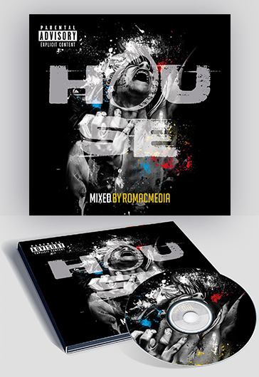 House music – Premium CD Cover PSD Template
