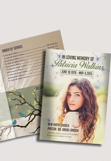 Free Funeral Program Template Invitation Trifold Brochure For In PSD