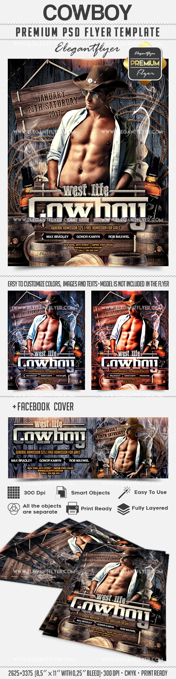 Cowboy – Flyer PSD Template