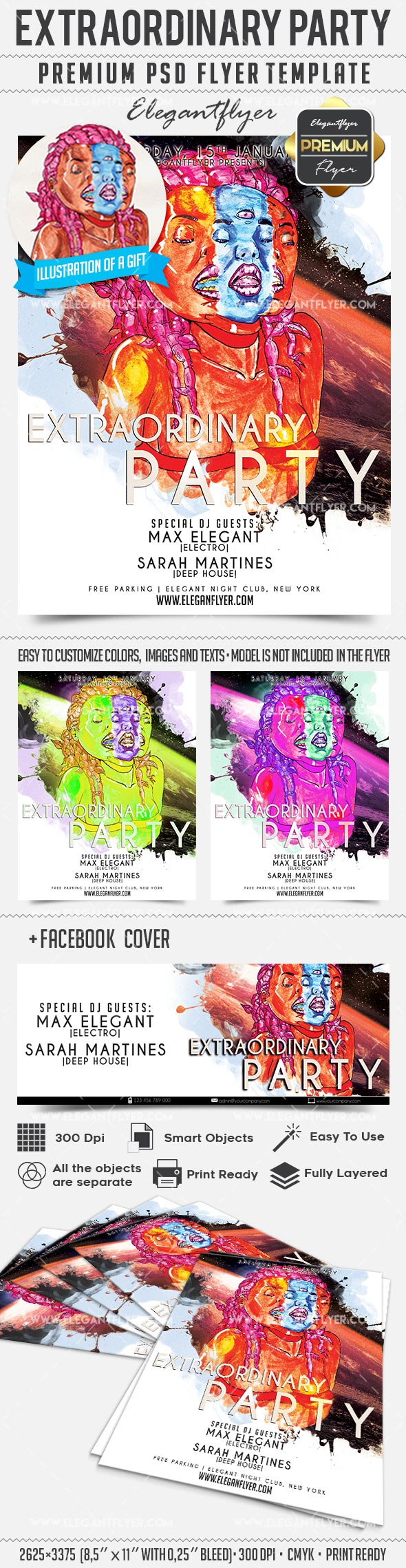Extraordinary Party – Flyer PSD Template