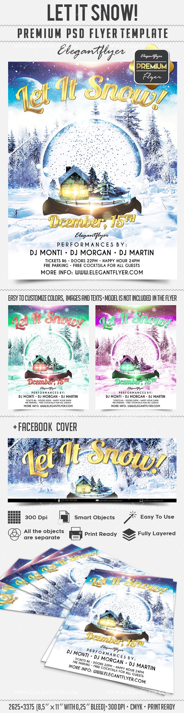 Let It Snow – Flyer PSD Template