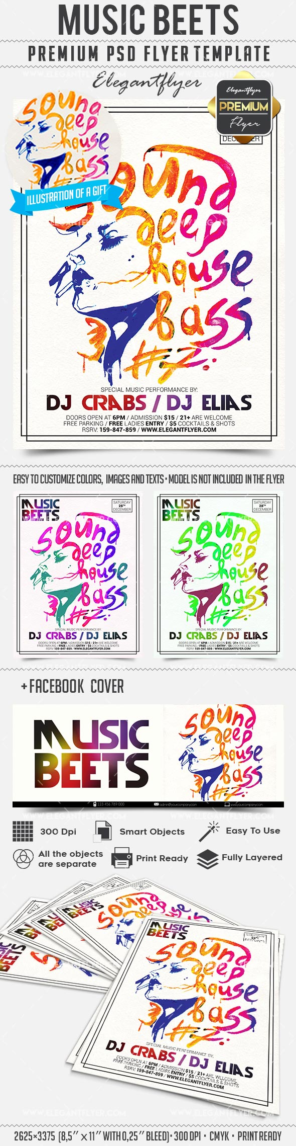 Music Beets – Flyer PSD Template