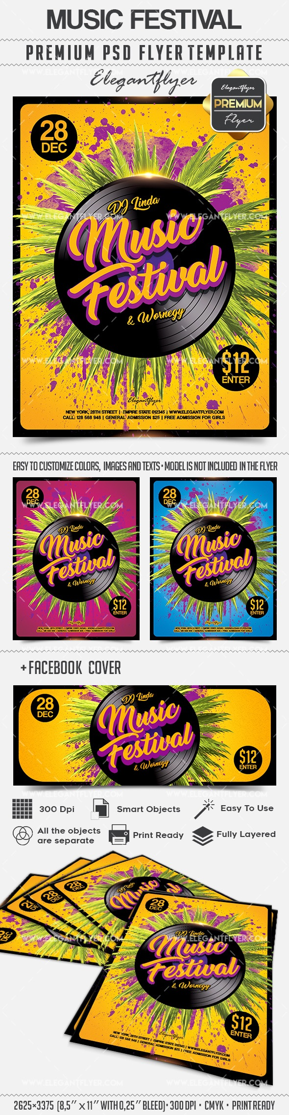 Poster for Music Festival Template