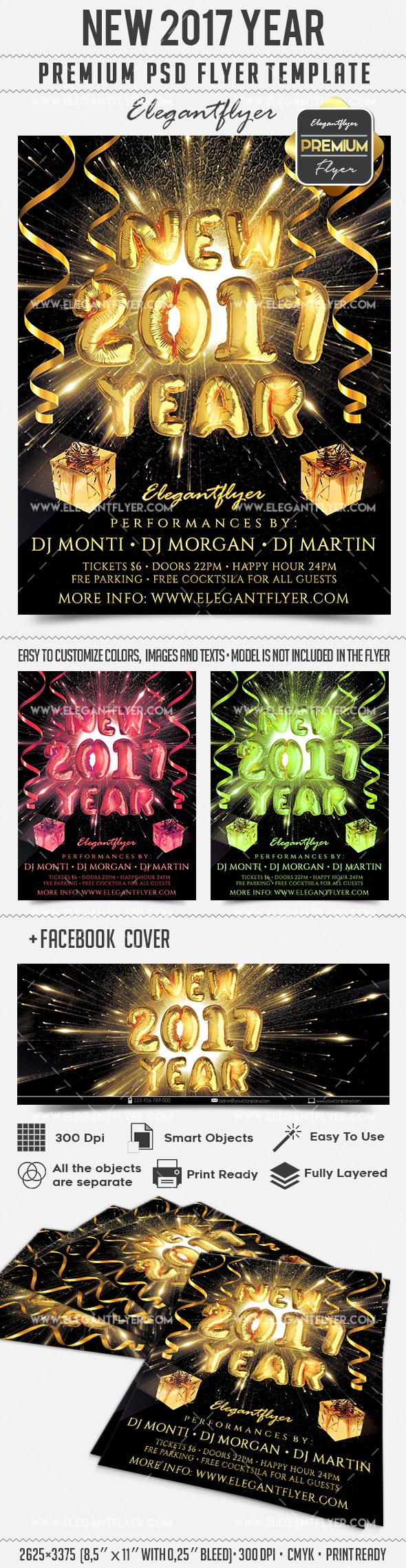 Flyer for New Years Balloon