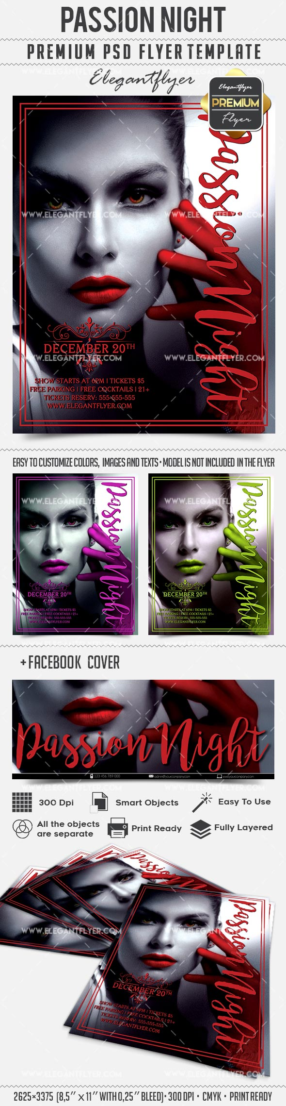 Passion Night – Flyer PSD Template