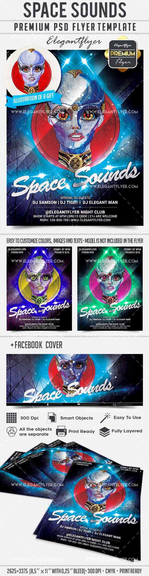 Space Sounds – Flyer PSD Template