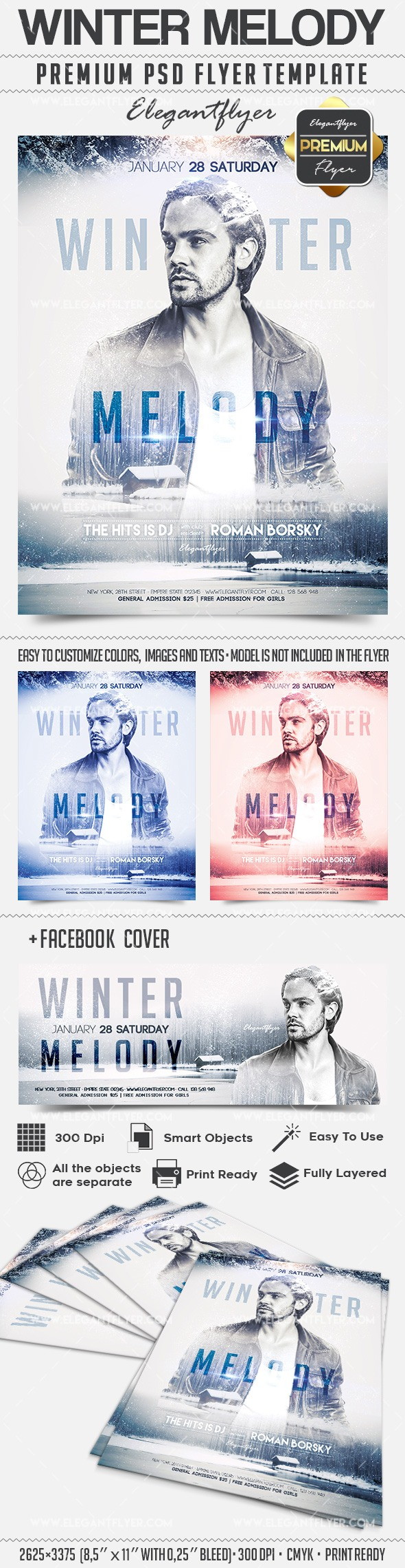 Winter Melody – Flyer PSD Template