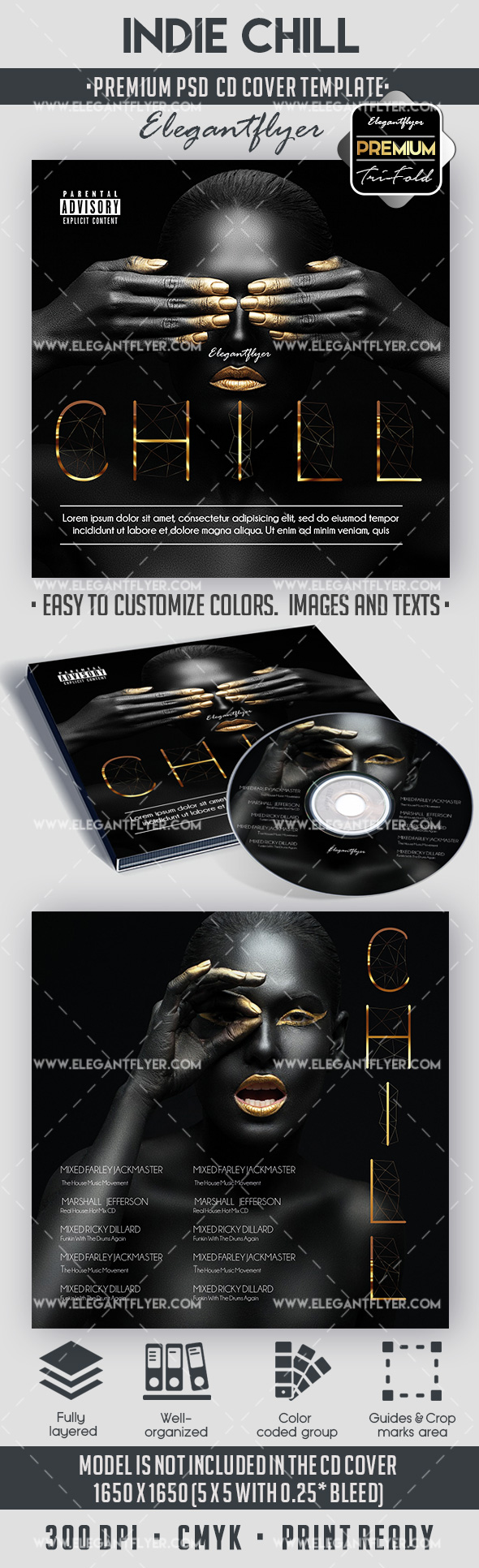 Indie Chill – Premium CD Cover PSD Template