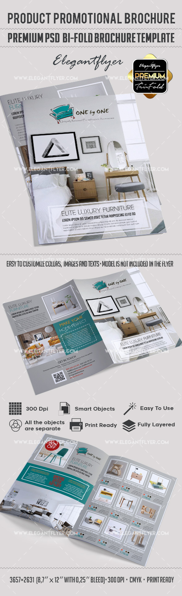 Product Promotional Bi-Fold PSD Brochure