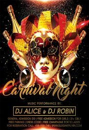Carnival Night – Flyer PSD Template + Facebook Cover