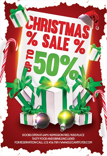Christmas Gifts Sale PSD Template